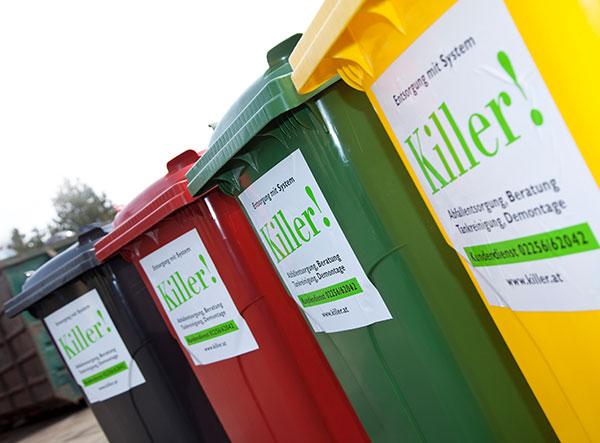 Killer Entsorgungsfirma - Illustration von Müllentsorgung