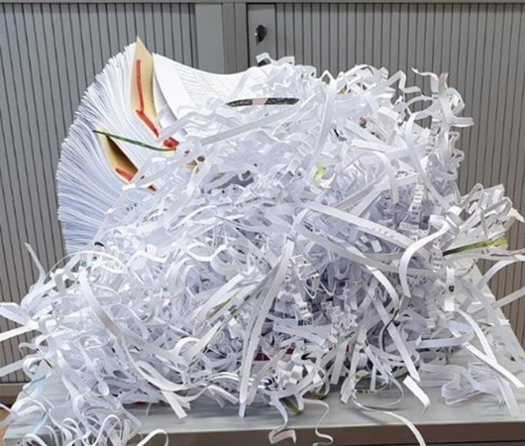 Papierabfallentsorgung